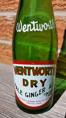Wentworth Dry Ginger Ale Hamilton Ontario Canada ACL Soda Pop Bottle