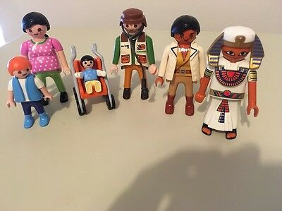 Playmobil Figures, A Family, Doctors And An Egyptian
