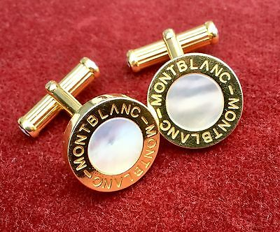 Mont Blanc Cufflinks With Mother Of Pearl. Excellent Condition