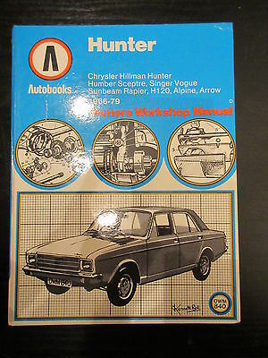Autobooks Hillman Hunter workshop manual 1966-79