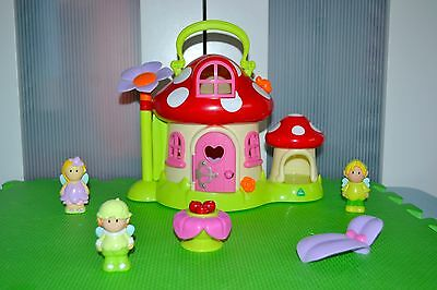 Elc Happyland Toadstool Cottage Fairies Home With Accessorizes VGC