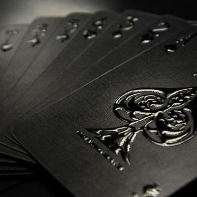 1 x Impressions Black Stealth Limited Custom Poker Playing Cards Professional.