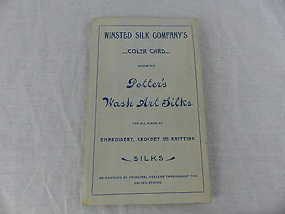 old advertising brochure winsted silk co. embroidery crochet knitting samples