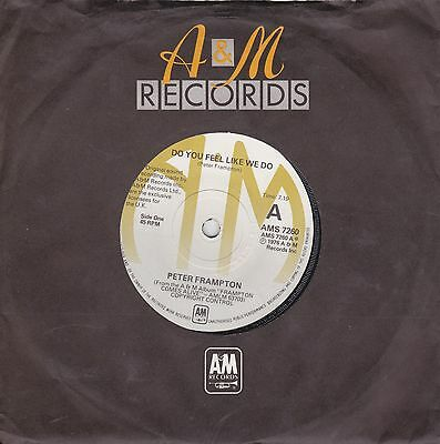 """Peter Frampton - """"Do You Feel Like We Do"""" 7"""" (1976) EX / Penny For Your Thoughts"""