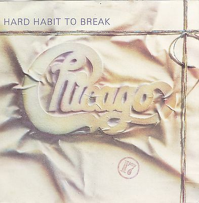"""Chicago - Hard Habit To Break - Full Moon Records Picture Sleeve 7"""" Single VG+/G"""