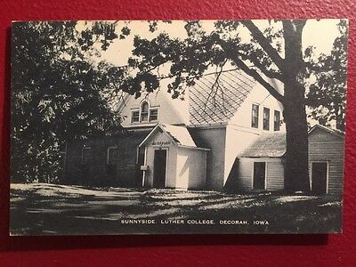 Old Postcard Of Luther College Iowa