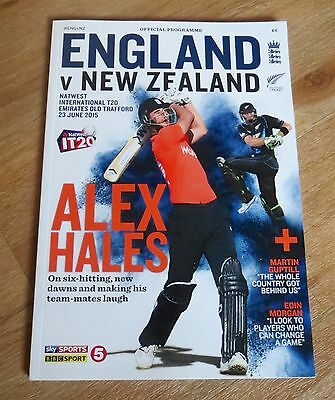 England v New Zealand 2015 Natwest T20 Official Programme