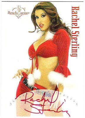 Benchwarner 2003 Series 2 - Autograph Holiday Card 3 - Rachel Sterling (Red Ink)