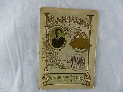 old advertising brochure pamplet christmas greeting card baptist church 1904