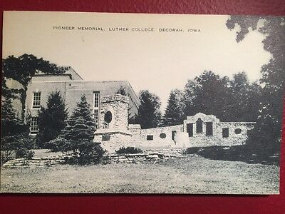 Old Postcard Of The Pioneer Memorial Luther College Decorah Iowa