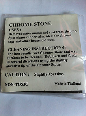 Remove Rust From Chrome Surfaces Like Taps, Bikes With Chrome Stone Cleaning Kit