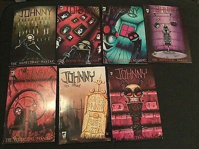 Johnny the Homicidal Maniac comics complete 1, 2, 3, 4, 5, 6 & 7