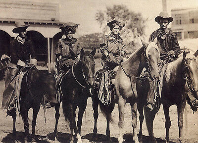 New 6 X 4 Photograph American Us Wild West Cow Boys 6