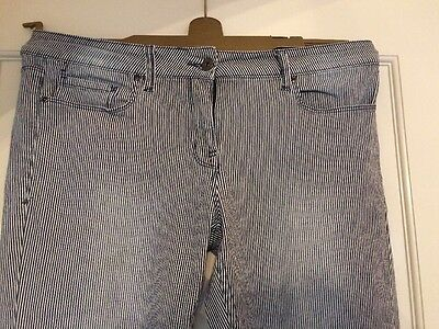 Ladies Next Relaxed Skinny Striped Jeans Size 12