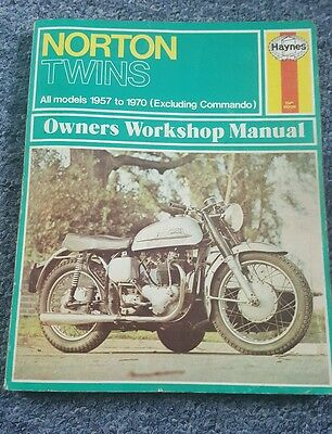 Norton Twins Haynes workshop manual all models 1957 to 1970 excluding commando