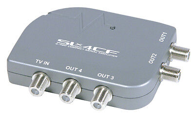 SLx Four Outlet Compact Aerial Distribution Amplifier 4G Compatible F Type