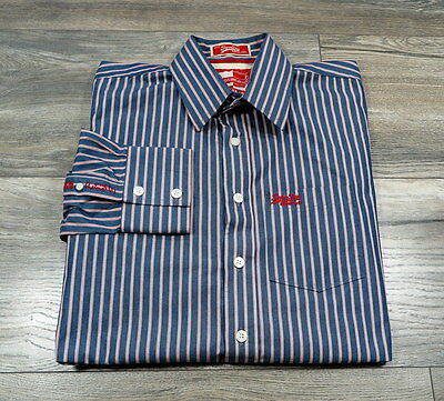 Superdry Long Sleeve Mens Sriped Shirt Size : L