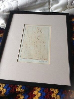limited edition signed print sketch of a naked lady  Original?