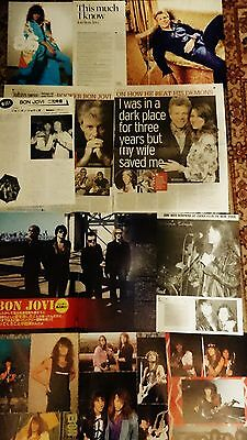 **Bon Jovi** Japanese Dutch European Clippings 1980s-2016