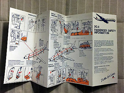 DELTA AIR LINES DC-8 safety card