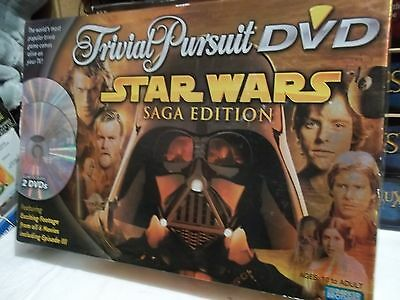 "TRIVIAL PURSUIT DVD "" Star Wars Saga Edition "" Complete VG and FREE SHIPPING !!"