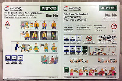EUROWINGS BAE 146 safety card