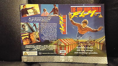 Pre Cert Sample  Vhs Cover ....the Boy Who Could Fly.... ..double Sided Cover