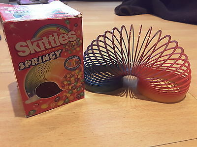 Skittles springy slinky, collectable memorabilia, with box, colourful toy
