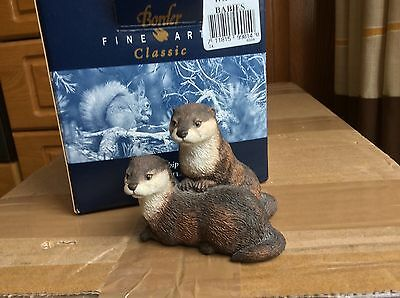Border fine Arts Collecters edition  Water babies  (Lot 38) Otters model