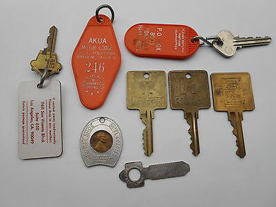 Lot of Vintage Hotel Motel Room Keys ,etc...