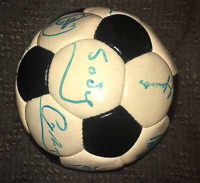 Official Ball 1974 used and signed by FCB Barcelona