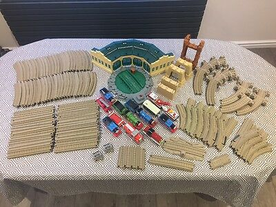 Huge bundle of Thomas the Tank engine trackmaster track, trains & tidmouth sheds