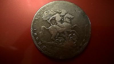 British King George III 1820 Silver Crown Coin