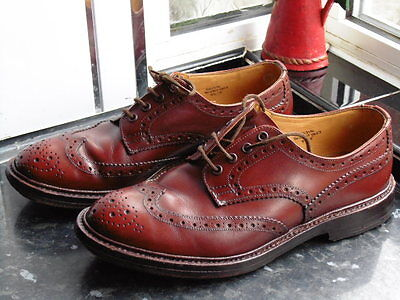 Men's Brown Trickers Bourton Shoes Size Uk 8.5