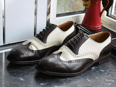 Men's Brown & Beige Alfred Sargent Melly Shoes Size Uk 9