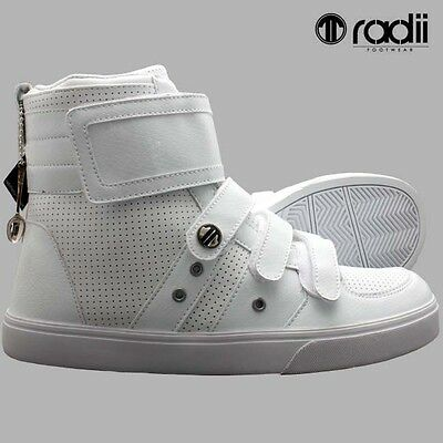 New Mens Size UK 11 Radii footwear/ High Top Trainers, white Croc style