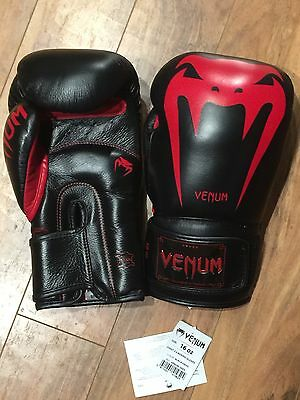 New Venum Giant 3.0 Boxing Gloves 16oz Red Black FREE SHIPPING