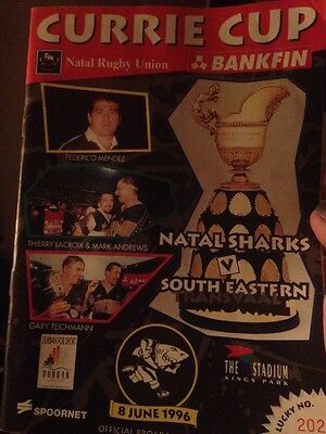 Rugby - Currie Cup Official Programme 8th June 1996 Plus Entry Ticket