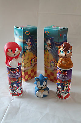 SUPER RARE Sonic The Hedgehog SEGA World Sydney Avon Bubble Bath Sally Acorn Set