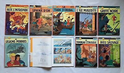 Alix 1 2 3 4 5 7 Dedicace Jacques Martin 8 9 / Lot Bd Ancien Edition / Casterman