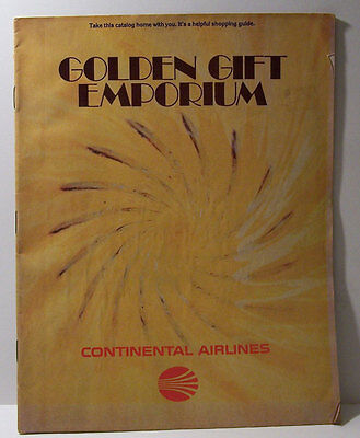 Vintage Continental Airlines Gift Catalog 1979 Funny Items Prices