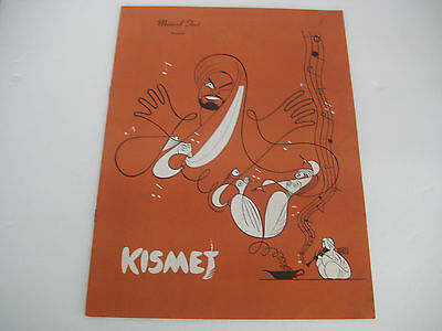 Vtg Michigan Musical Play Tent Theater SIGNED SHOW CAST Program KISMET 50s