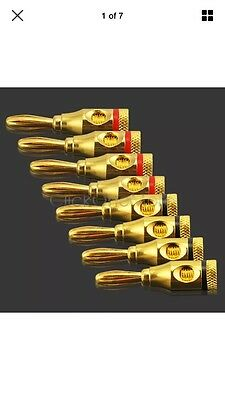 eFan - 8 Pcs Musical Audio Speaker Cable Wire 4mm Banana Plug Connector G8