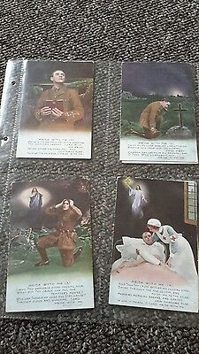 4 military song postcards , abide with me
