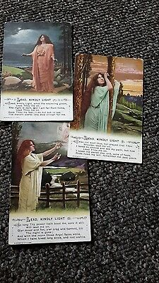 3 military song postcards , lead kindly light