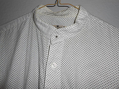 Classic Old West Styles Pioneer/Reenactment Shirt White, Black Dots Size L