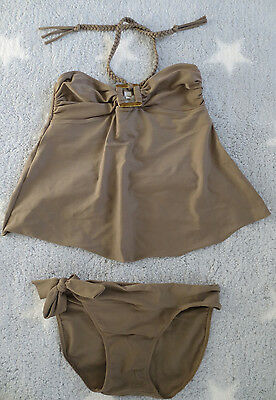 Belabumbum Maternity Tankini Bathing Suit Two Piece Size Small