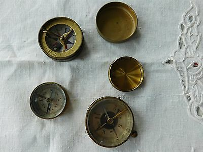 lot 3 COMPASSES; FRENCH BRASS, SUNDIAL, D.R.G.M. PETITPIERRE