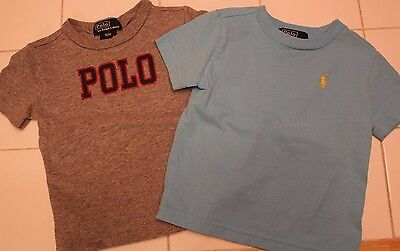 Lot of 2 Polo Ralph Lauren Toddler Boys T-Shirts Size 12 Months