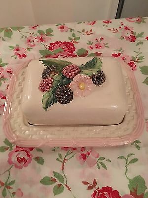 Antique Vintage Country Cottage Butter Dish